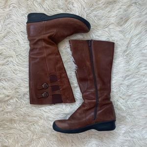 Keen Tall Brown Vegan Leather Boots